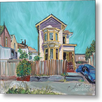 Old House In East Oakland Metal Print by Asha Carolyn Young