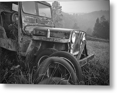 Old Jeep Metal Print by Jerry Mann