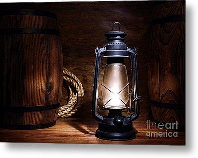 Old Kerosene Lantern Metal Print by Olivier Le Queinec