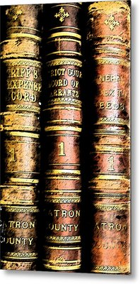 Old Ledgers Metal Print by Lovina Wright