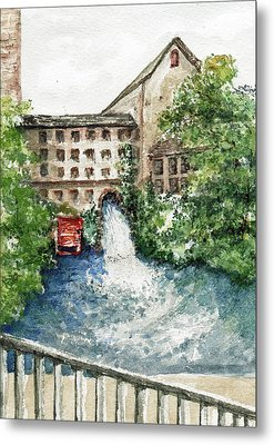 Old Mill Aqueduct Metal Print by Elle Smith  Fagan