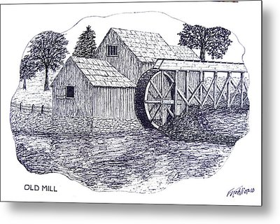 Old Mill Metal Print by Frederic Kohli