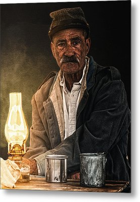 Old Rebel Metal Print by Ron  McGinnis