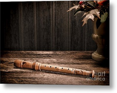 Old Recorder Metal Print by Olivier Le Queinec