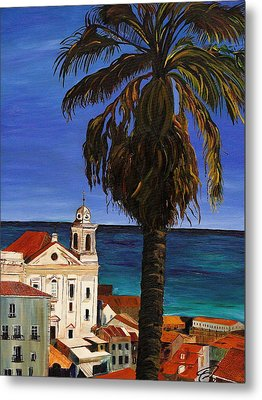 Old San Juan Ruerto Rico  Metal Print by Impressionism Modern and Contemporary Art  By Gregory A Page