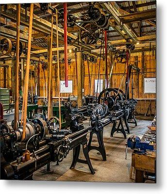 Old School Machine Shop Metal Print by Paul Freidlund