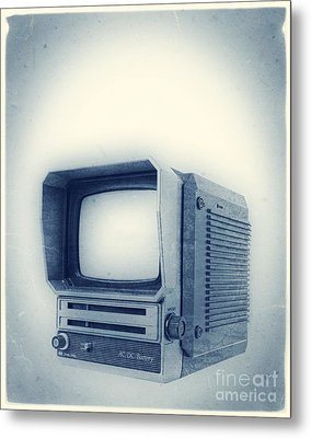 Old School Television Metal Print by Edward Fielding