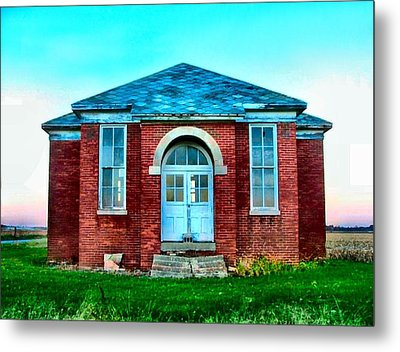 Old Schoolhouse Metal Print by Julie Dant