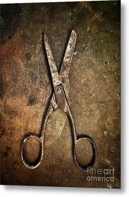 Old Scissors Metal Print by Carlos Caetano