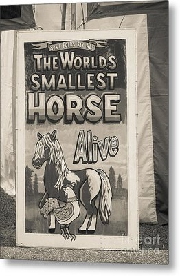 Old Sideshow Poster Metal Print by Edward Fielding