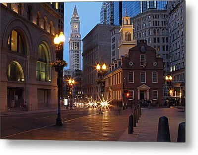 Old State House And Custom House In Boston Metal Print by Juergen Roth