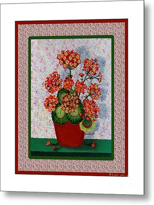 Old Time Geraniums Metal Print by Barbara Griffin