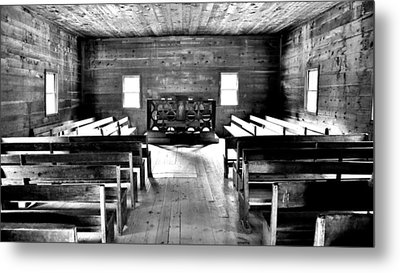 Old Time Religion -- Cades Cove Primitive Baptist Church Metal Print by Stephen Stookey