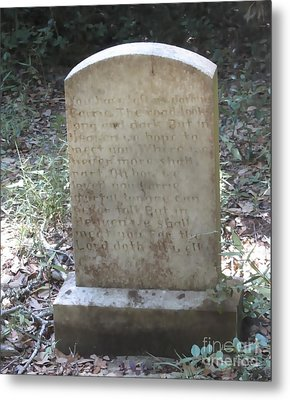 Old Tombstone  Metal Print by Cathy Lindsey