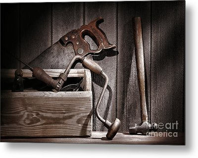 Old Tools Metal Print by Olivier Le Queinec