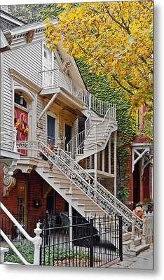 Old Town Chicago Living Metal Print by Christine Till