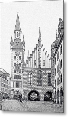 Old Town Hall - Munich - Germany Metal Print by Christine Till