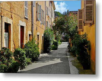 Old Town Of Valbonne France  Metal Print by Christine Till