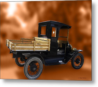 Old Truck Metal Print by Jo-Anne Gazo-McKim