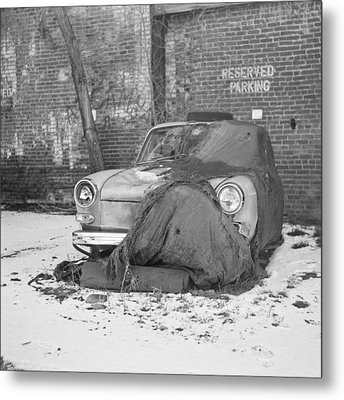 Old Vw Squareback Metal Print by Steve G Bisig