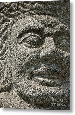 Old Warrior Sculpture Metal Print by Yali Shi