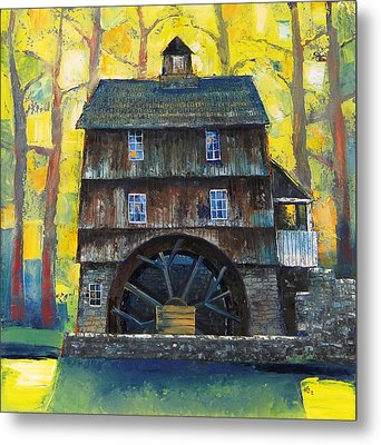 Old Water Mill Metal Print by Mikhail Zarovny