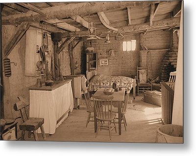 Old West Cabin Metal Print by David Rizzo