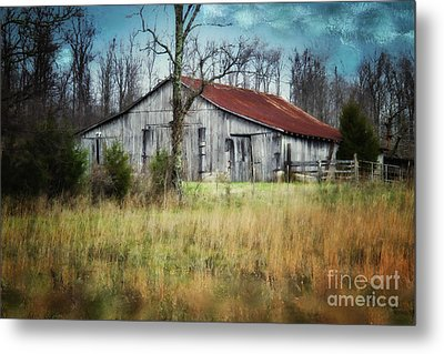 Old Wooden Barn Metal Print by Betty LaRue