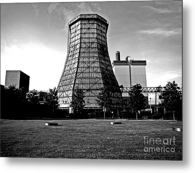 Old Wooden Cooling Tower Metal Print by Andy Prendy