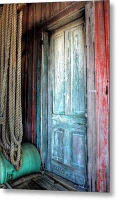 Old Wooden Door Metal Print by Lynn Jordan