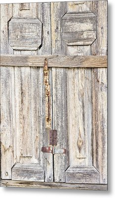 Old Wooden Doorway Metal Print by Tom Gowanlock