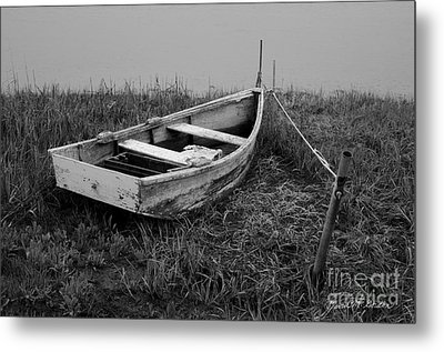 Old Wooden Rowboat II Metal Print by Dave Gordon