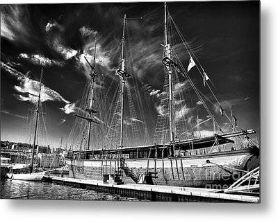 Old World Sailboat Metal Print by John Rizzuto