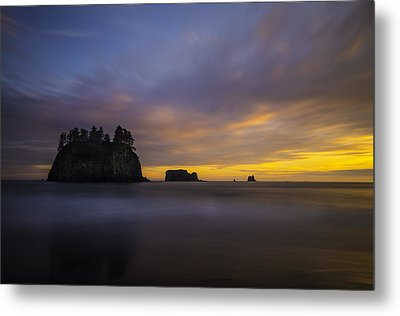 Olympic Coast Sunset Metal Print by Larry Marshall