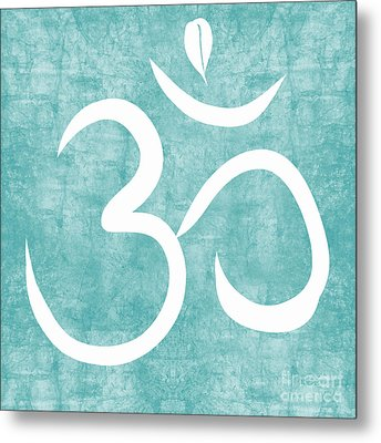 Om Sky Metal Print by Linda Woods