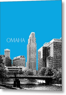 Omaha Skyline - Ice Blue Metal Print by DB Artist