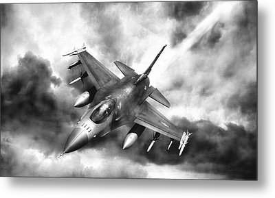 Ominous Falcon Metal Print by Peter Chilelli