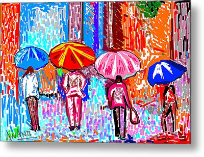 On A Rainy Day Metal Print by Anand Swaroop Manchiraju