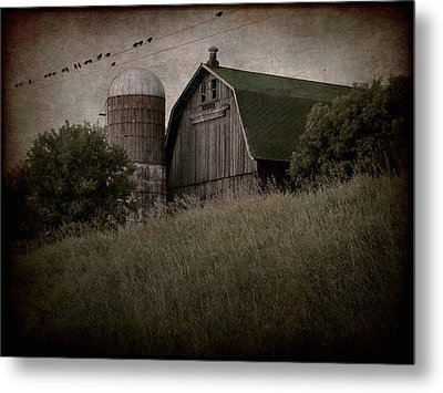 On Blackbird Hill Metal Print by Angie Rea