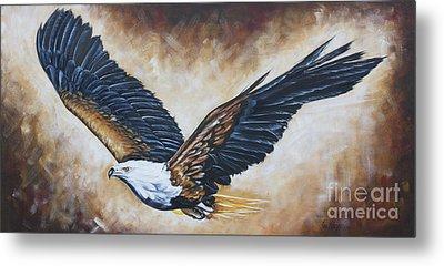 On Eagle's Wings Metal Print by Ilse Kleyn