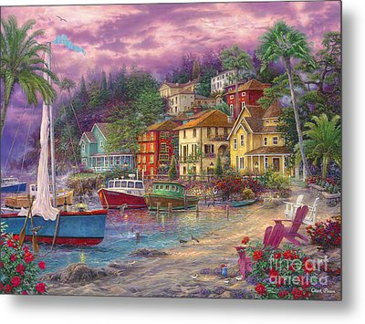 On Golden Shores Metal Print by Chuck Pinson