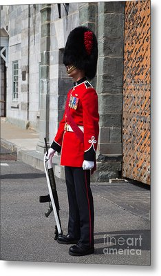 On Guard Quebec City Metal Print by Edward Fielding