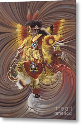 On Sacred Ground Series 4 Metal Print by Ricardo Chavez-Mendez