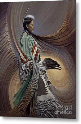 On Sacred Ground Series I Metal Print by Ricardo Chavez-Mendez