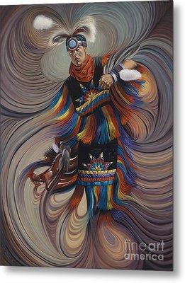 On Sacred Ground Series II Metal Print by Ricardo Chavez-Mendez