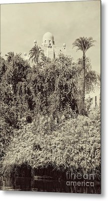 On The Banks Of The Nile Metal Print by Nigel Fletcher-Jones