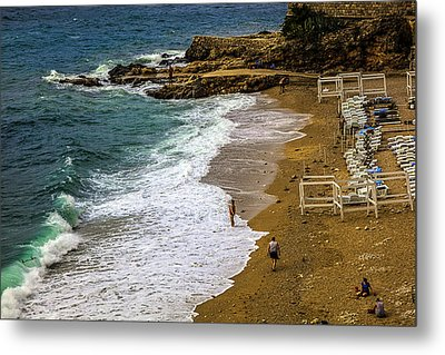 On The Beach - Dubrovnic Metal Print by Madeline Ellis