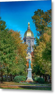 On The Campus Of The University Of Notre Dame Metal Print by Mountain Dreams
