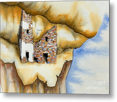 On The Edge Metal Print by Jerry McElroy