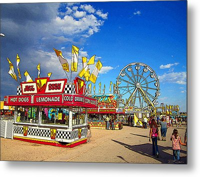 On The Midway Metal Print by Ric Soulen